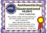 Authenticity Guaranteed Certificate (eQSL)