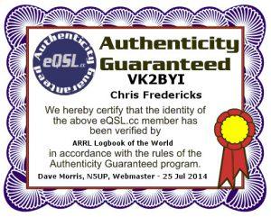 eQSL AG Certificate